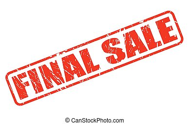 FINAL SALE red stamp text