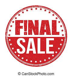 Final sale stamp - Final sale grunge rubber stamp on white...