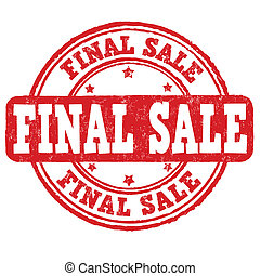 Final sale stamp - Final sale grunge rubber stamp on white, ...