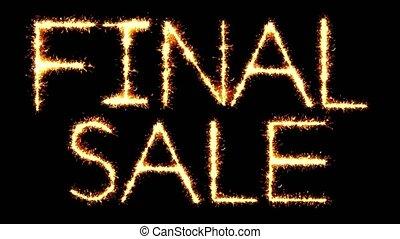 Final Sale Text Sparkler Glitter Sparks Firework Loop...