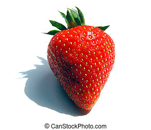 Final Strawberry - Single Strawberry with narrow DOF and...