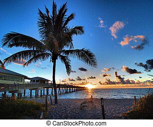 Final Sunrise - Sunrise from Dania Beach Pier in Ft...