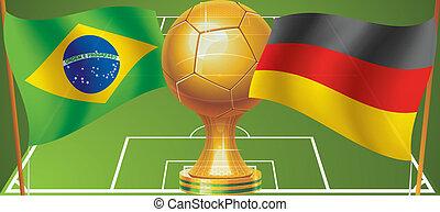 Final World Cup Soccer 2014 brazil vs germany logo...