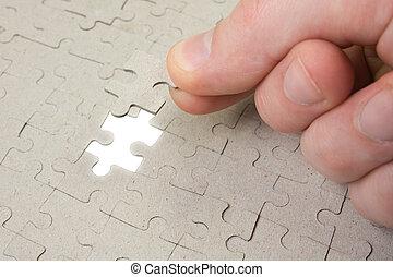 finale, pezzo, di, puzzle