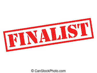 FINALIST red Rubber Stamp over a white background.
