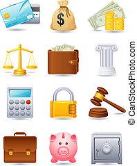 finanças, ícone