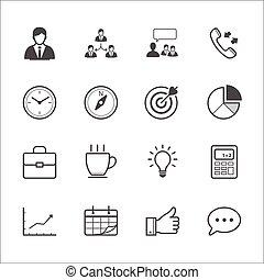 finanças, ícones negócio