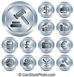 finanças, botões