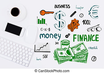 finanças, conceito