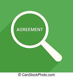 finanças, concept:, magnificar, óptico, vidro, com, palavras, acordo