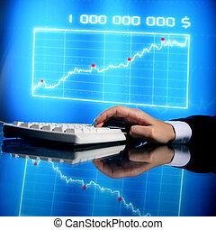 finanças, dados
