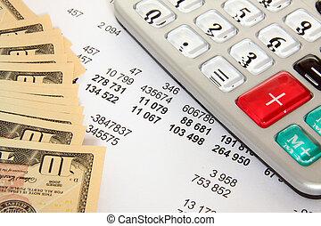 finanças, e, negócio