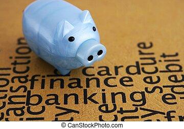 finanças, e, operação bancária, conceito