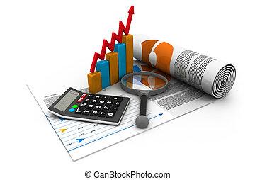 finanças, estatísticas, imposto, negócio, pesquisa, analytic...