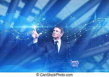 finanças, futuro, e, tecnologia, conceito