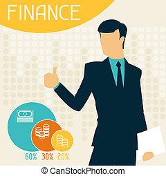 finanças, infographics.