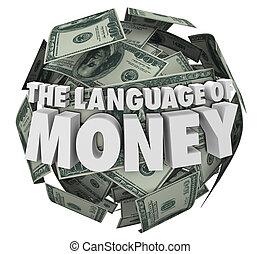 finanças, língua, dinheiro, orçando, aprendizagem, contabilidade