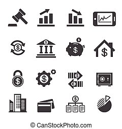 finanças, negócio, ícone