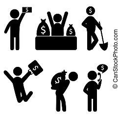 finanças negócio, ícones