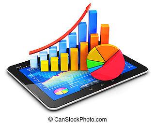 finanças negócio, contabilidade, e, estatísticas, conceito