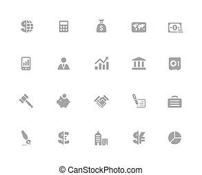 //, finanças, negócio, &, série, ícones, 32px, branca