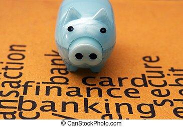 finanças, operação bancária, conceito