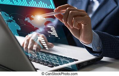 finanční machinace, obchodník, díla, data