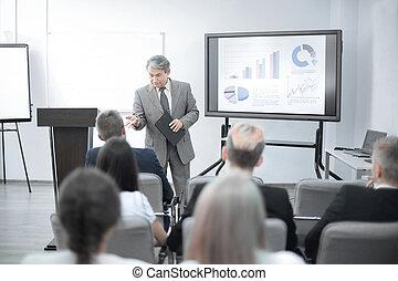 finanční machinace, povolání, naplánovat, mužstvo, obchodník, discussing