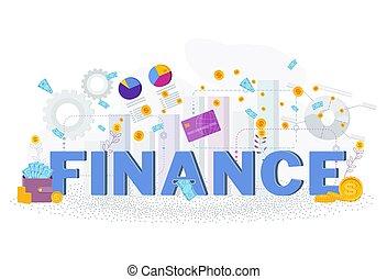 finance., ビジネス, 財政, 活版印刷, concept., metaphor.
