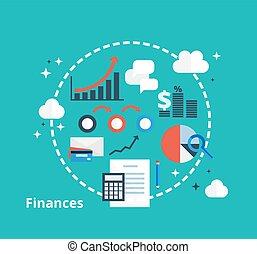 Finance and accounting concept for your design.