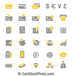 Finance and banking vector icon set