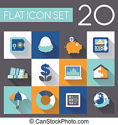 finance and investment icon set