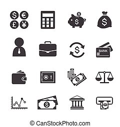 Finance and money icon set