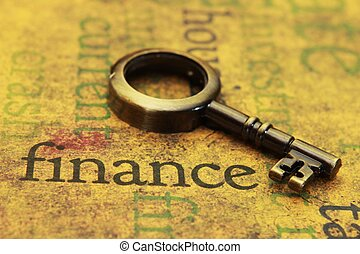 Finance and old key