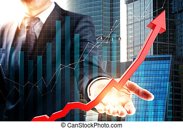 Finance and success concept