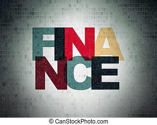 finance, argent, papier, fond, numérique, concept: