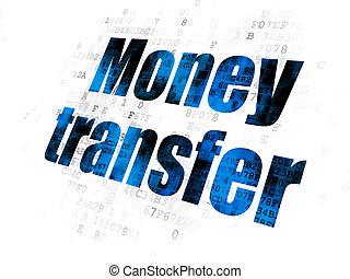 finance, argent, transfert, fond, numérique, concept: