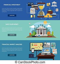 Finance Banner Horizontal Set