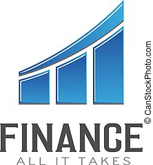 Finance Bar Graph UP. Logo vector