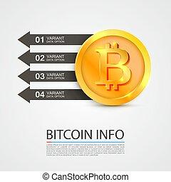 finance., bitcoin, affari, infographics