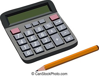 Finance budget calculation with pencil. Raster Illustration