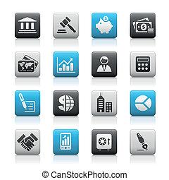 finance, business, &, /, boutons, mat