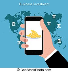 Finance business investment concept, vector illustration