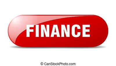 finance button. sticker. banner. rounded glass sign