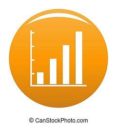 Finance chart icon orange