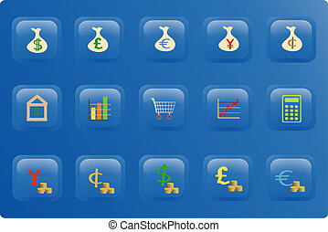 Finance Color Button Set