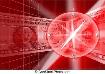 finance, compass, revolve