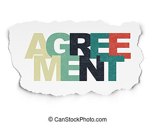 Finance concept: Agreement on Torn Paper background