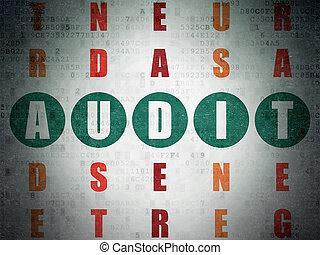 Finance concept: Audit in Crossword Puzzle