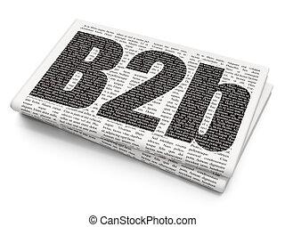 Finance concept: B2b on Newspaper background